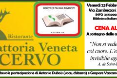 18 febbraio 2018, live @Cena al Buio (Vicenza)